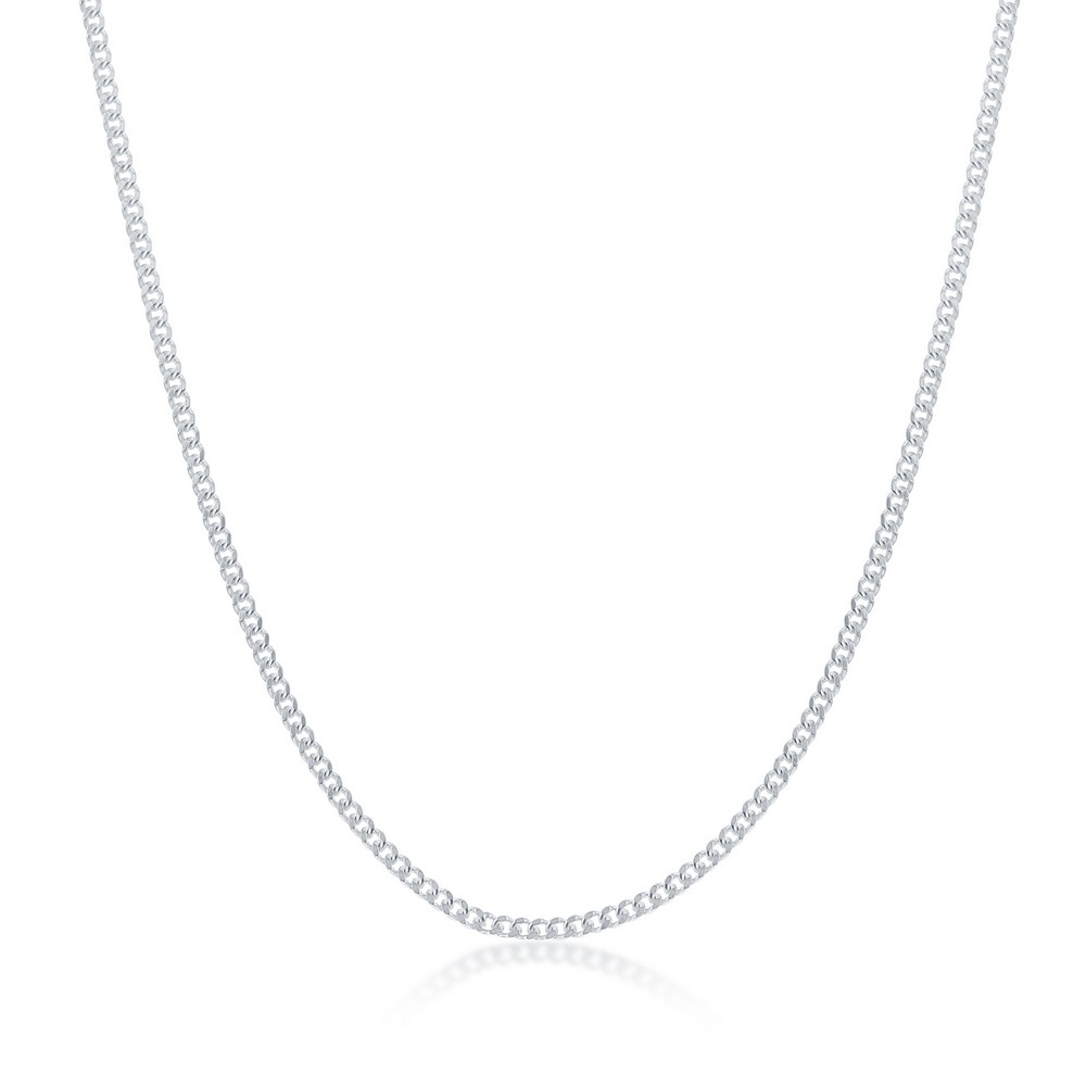 Sterling Silver 1.4MM Cuban Chain - Silver Plated