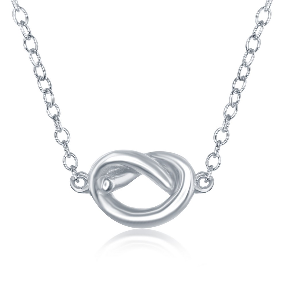 Sterling Silver Small Love Knot Necklace