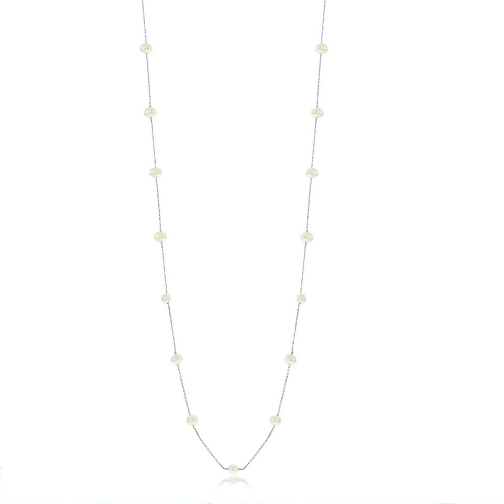 Sterling Silver Freshwater Pearls by the Yard Necklace