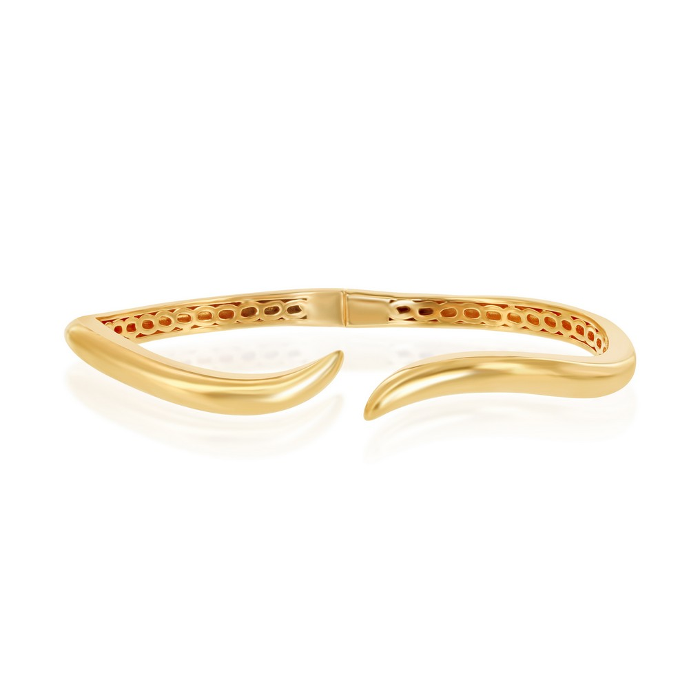 Sterling Silver Gold Plated Waved Bangle