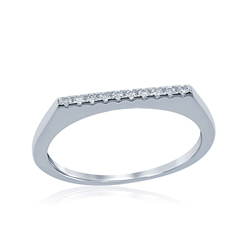 Sterling Silver Thin CZ Ring