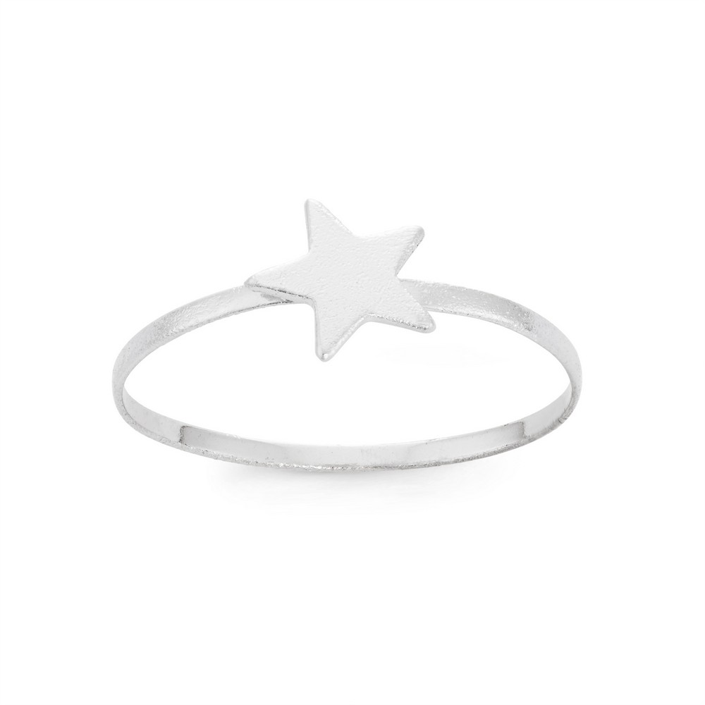 Sterling Silver Small Shiny Star Ring
