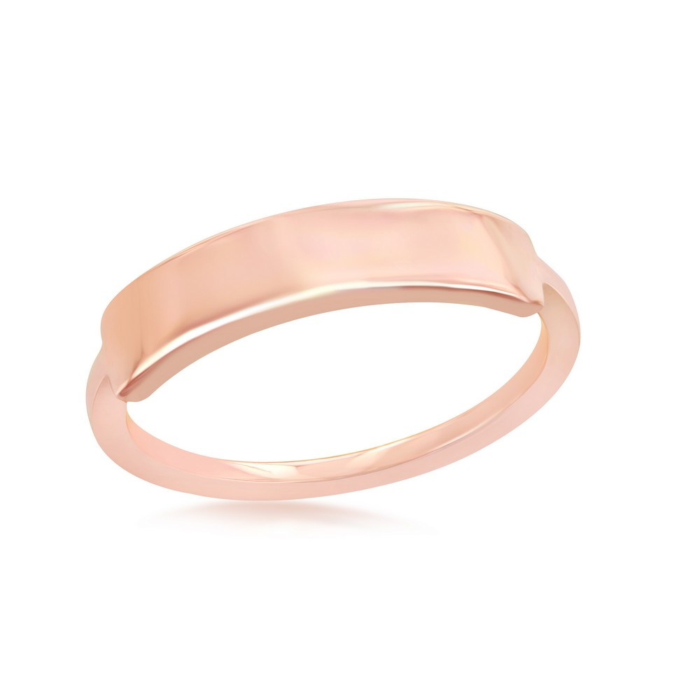 Sterling Silver Rose Gold Plated Engravable Ring