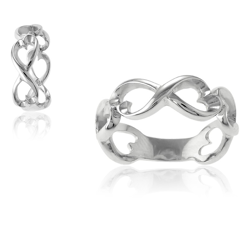 Sterling Silver Open Infinity Ring