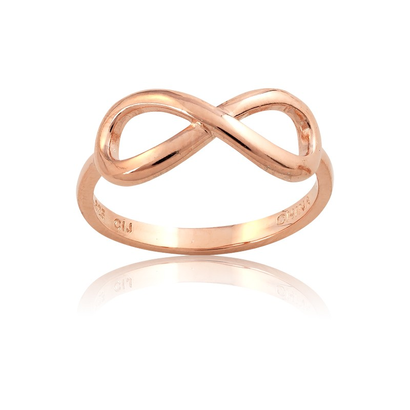 Sterling Silver Rose GP Infinity Ring