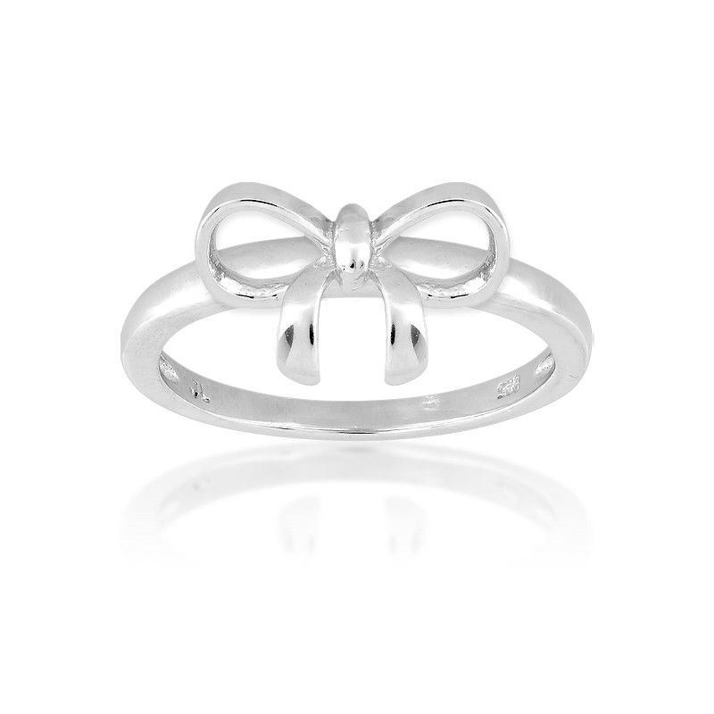.5 Sterling Silver Bow Ring