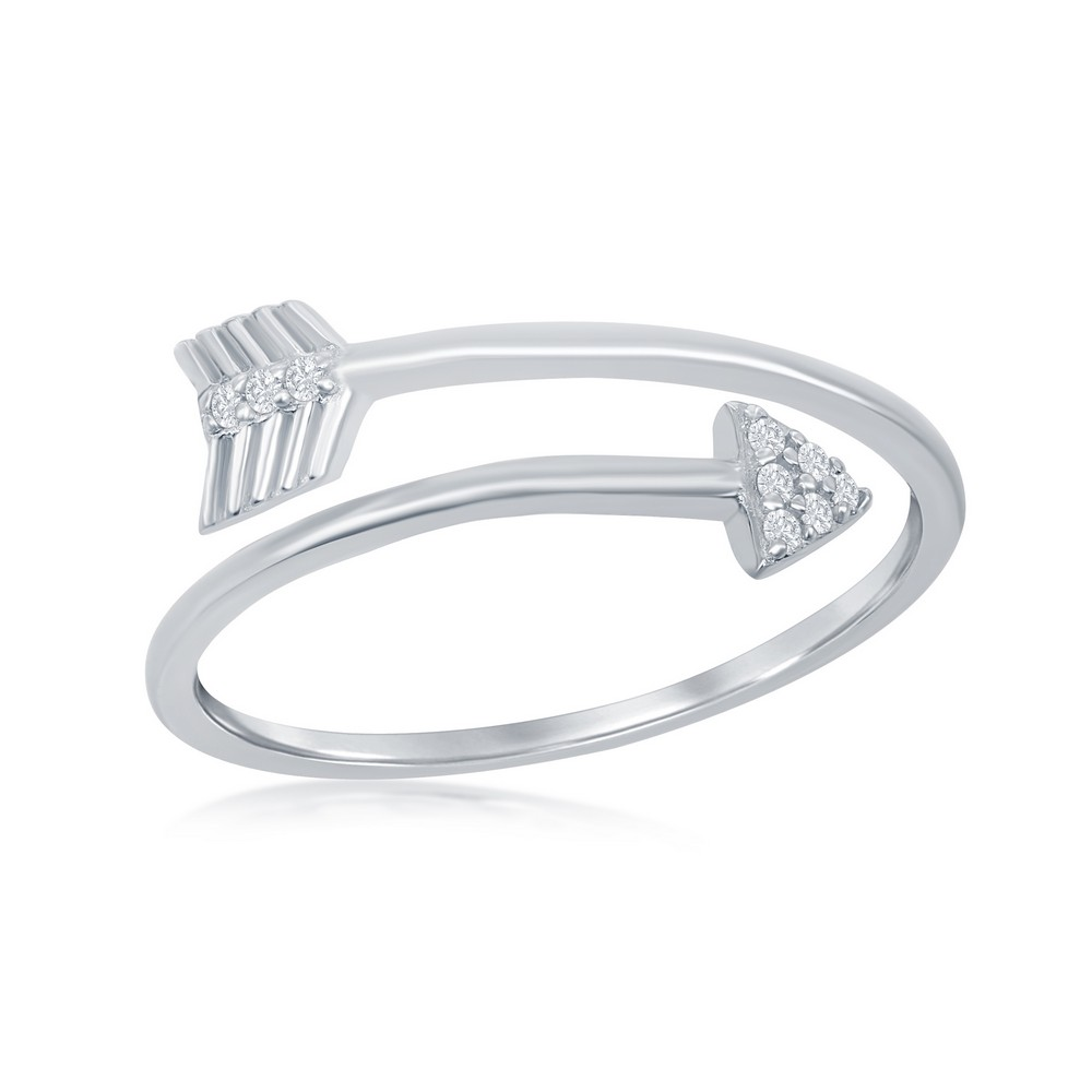 Sterling Silver Overlapping Arrow Ring