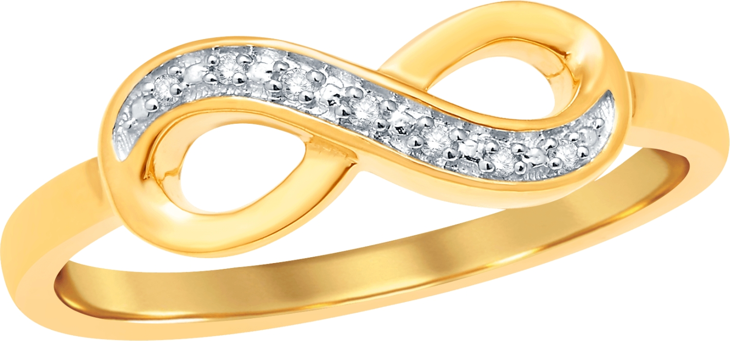 10KTGOLD 0.02CTDIA INFINITY RING