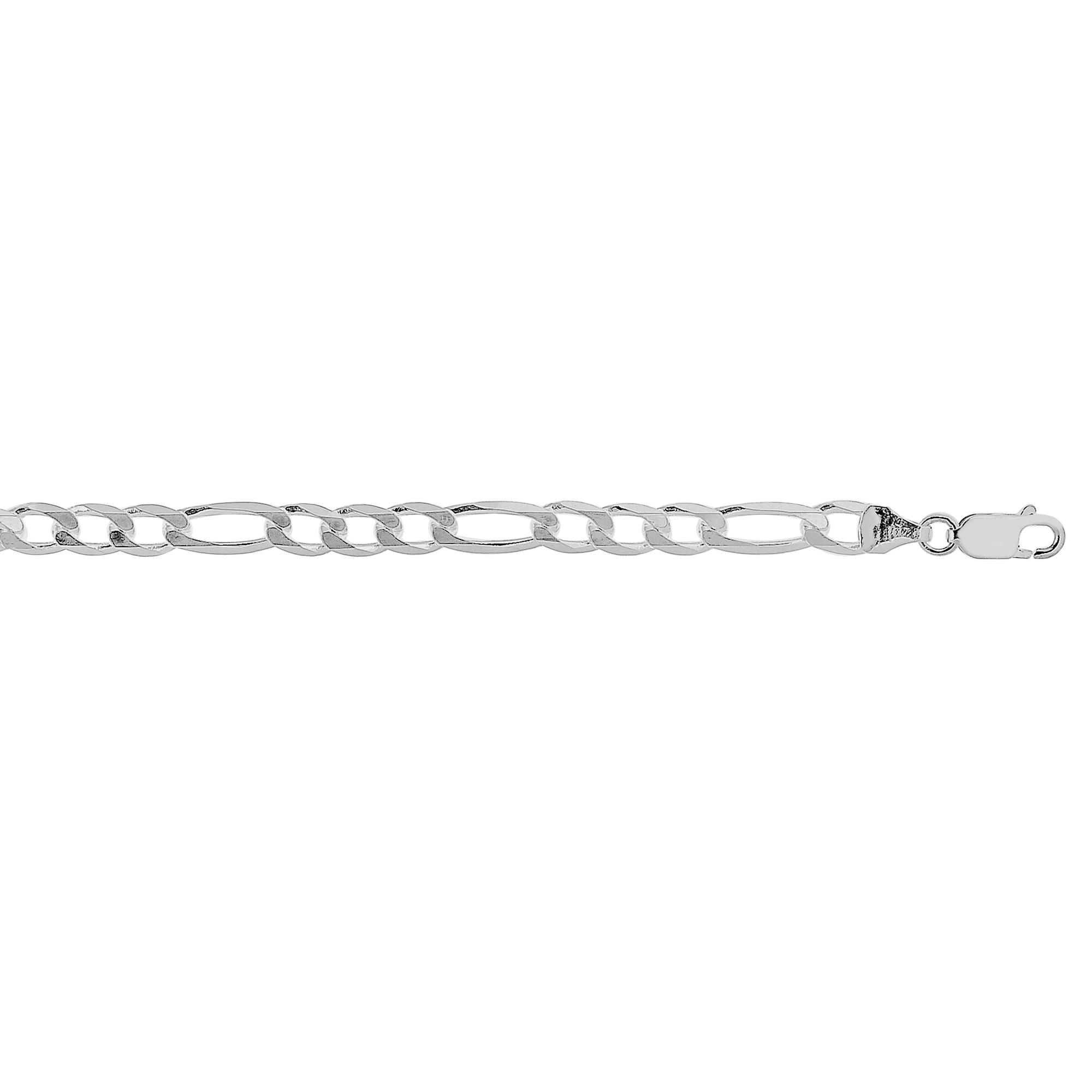 Silver 5.5mm Figaro Chain