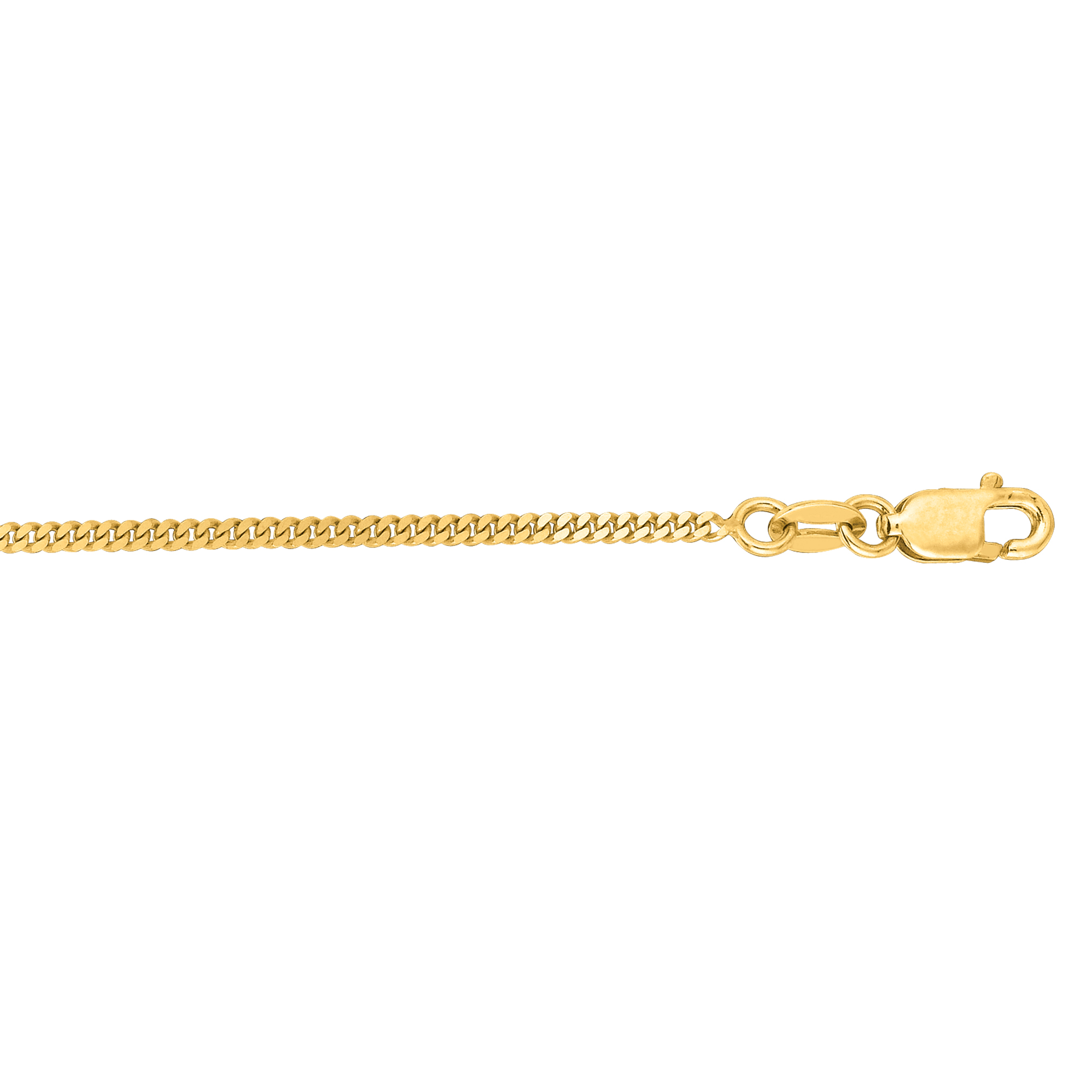14kt 24 inches Yellow Gold 1.5mm Diamond Cut Gourmette Chain with Lobster Clasp