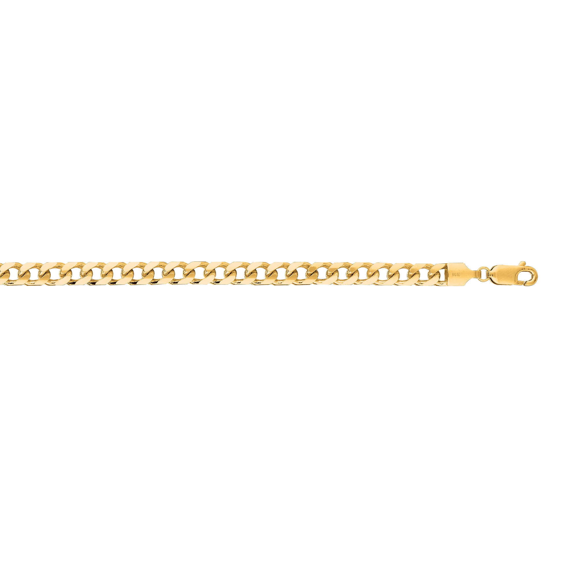 14kt 24 inches Yellow Gold 4.4mm Diamond Cut Miami Cuban Link Chain with Lobster Clasp