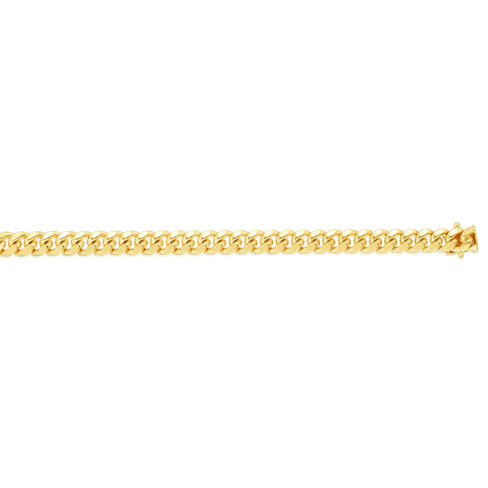 14kt Gold 26 inches Yellow Finish 8.5mm New Miami Cuban Necklace with Box Clasp