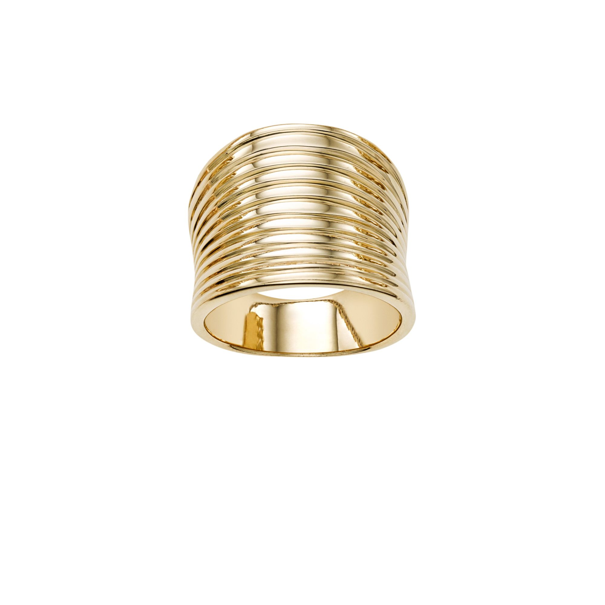 14kt Gold Size-7 Yellow Finish Ring