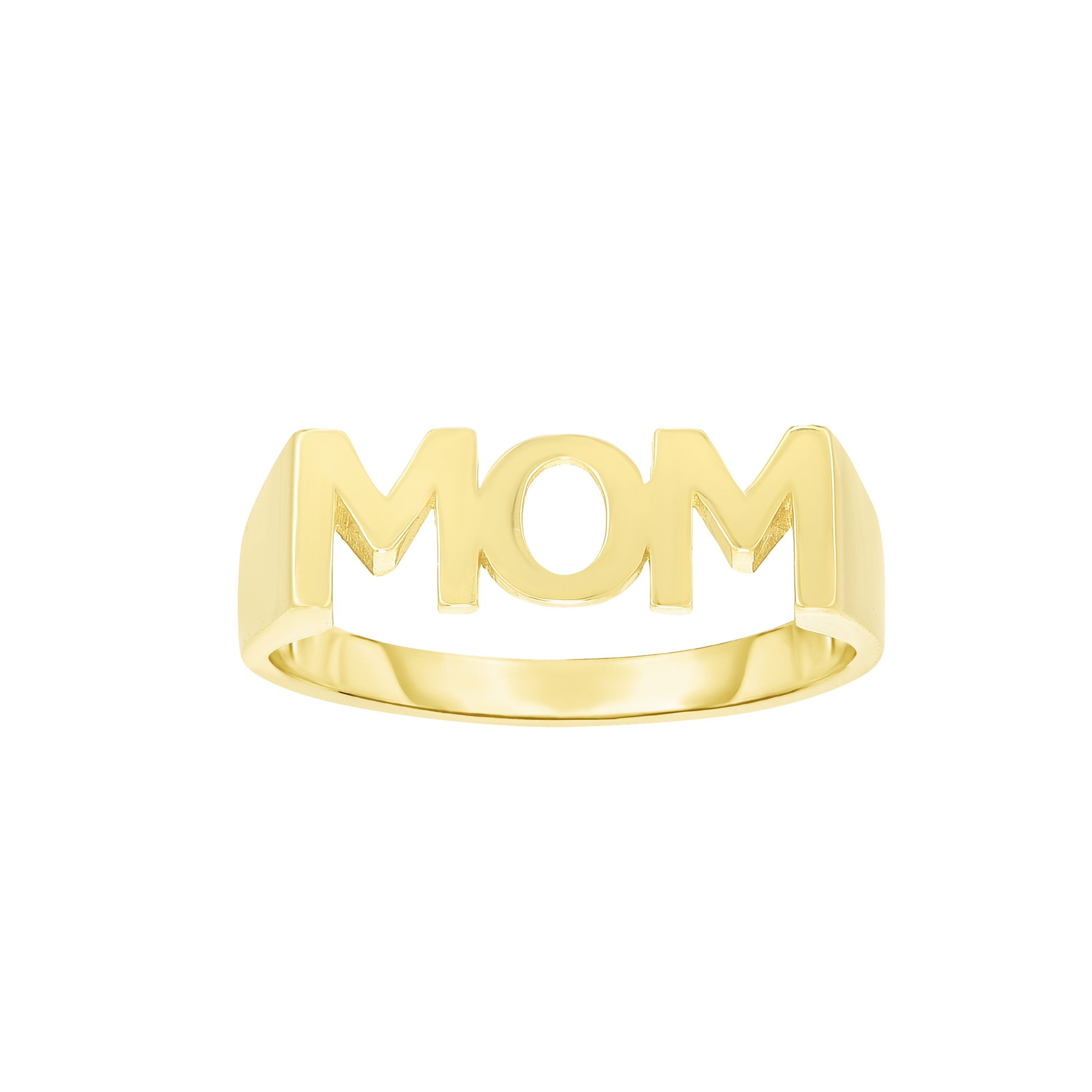 14kt Gold Size-7 Yellow Finish 5.6x16x0.8mm Mom Ring