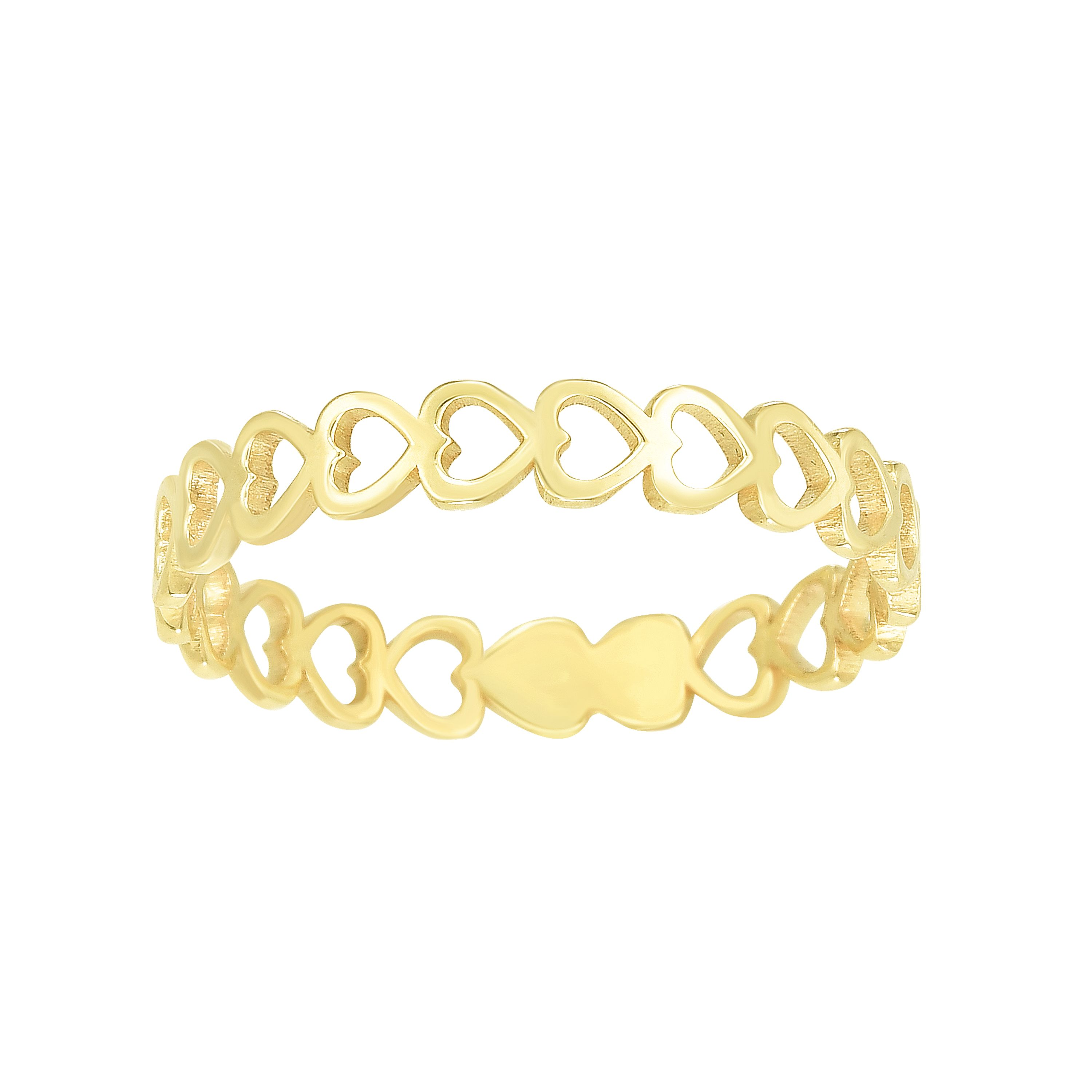14kt Gold Size-7 Yellow Finish Band Ring