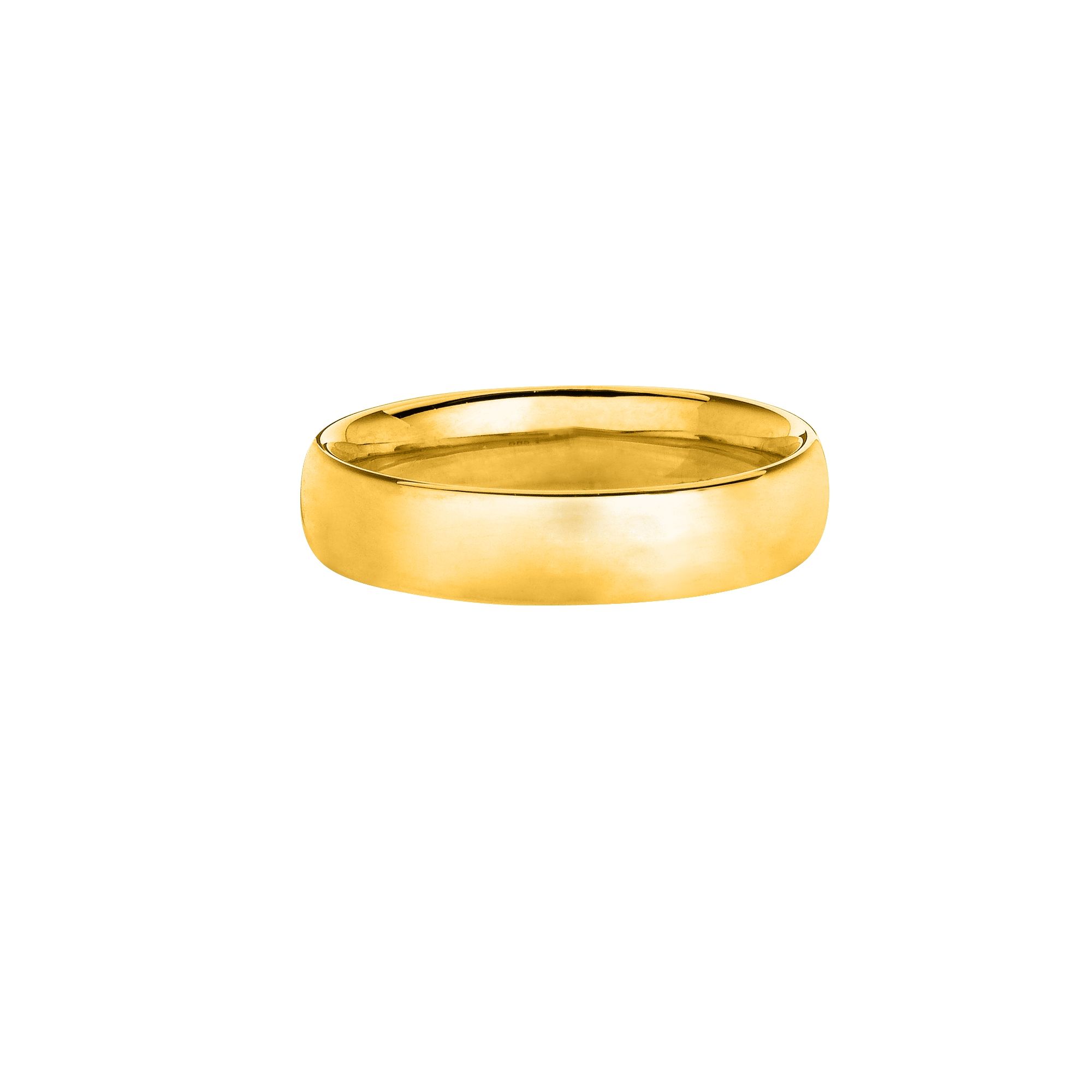 14kt Yellow Gold 4.0mm Shiny Comfort Fit Size 7 Wedding Band