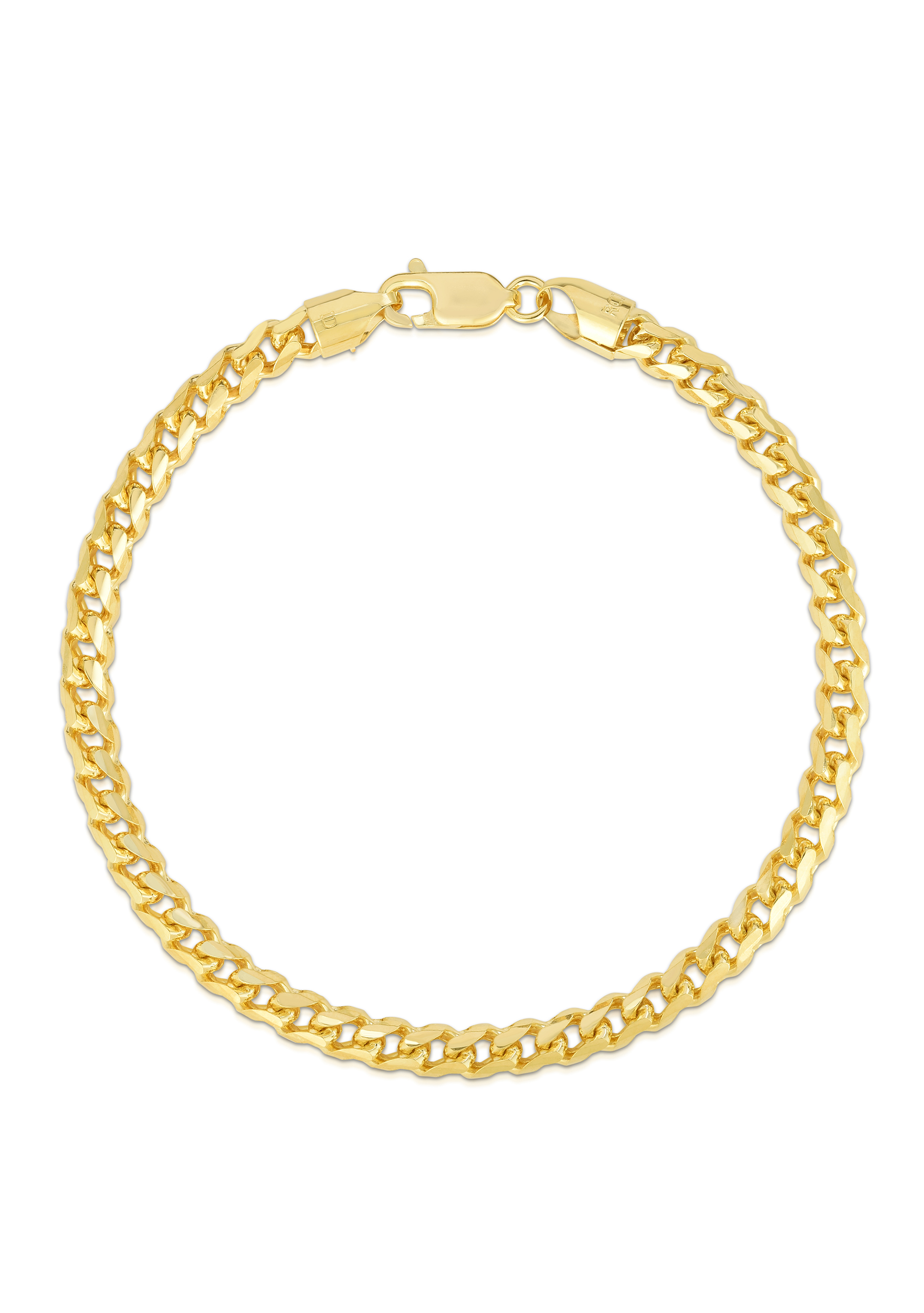 14kt Gold 30 inches Yellow Finish 4mm Shiny Round Franco Chain with Lobster Clasp