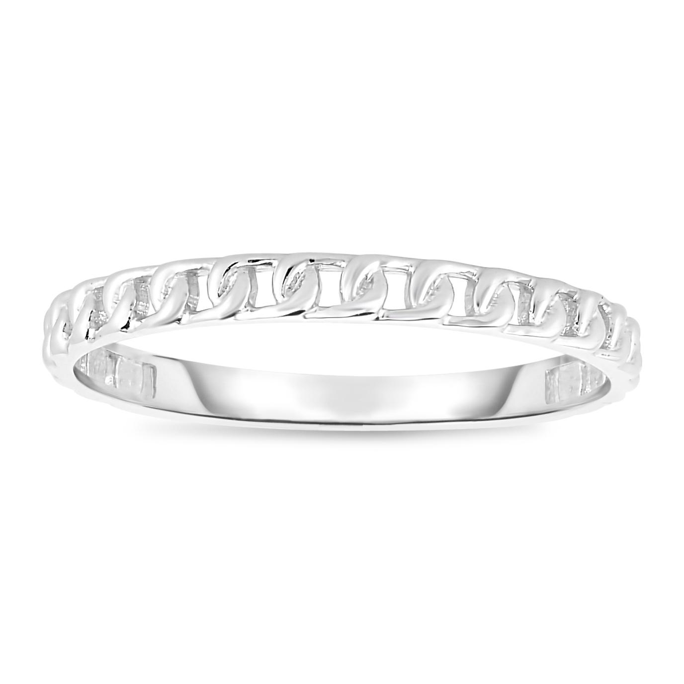 14kt Gold Size-7 White Finish Ring